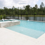 in-ground plunge pool spa