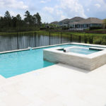in-ground pool spa combo