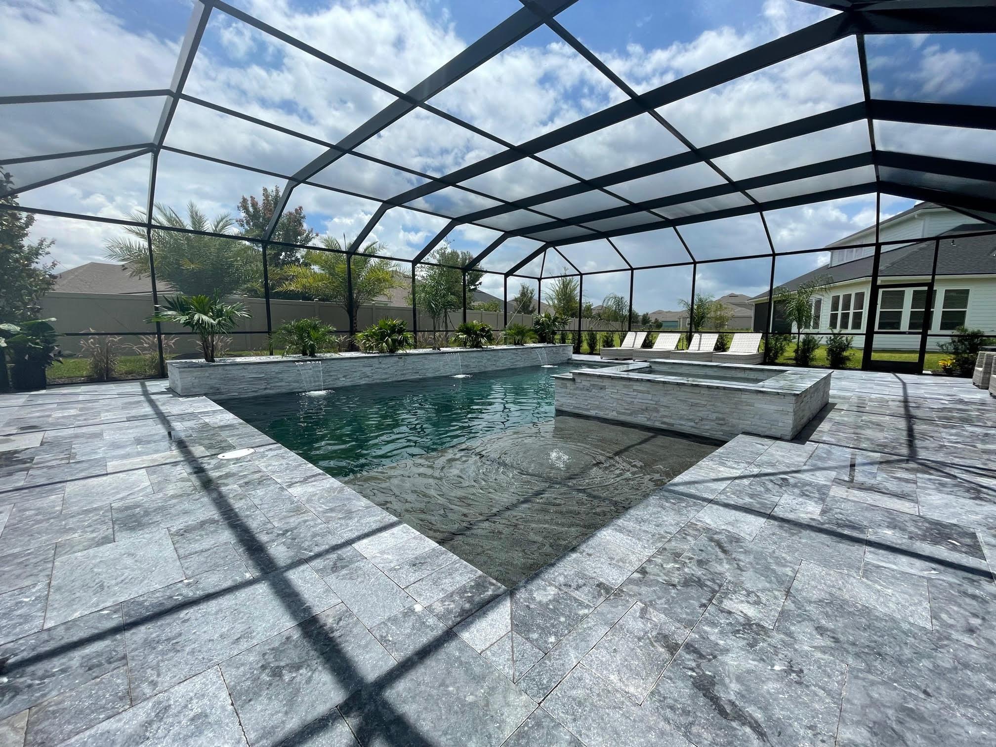 Screen Enclosure Sun Shelf Pool/Spa