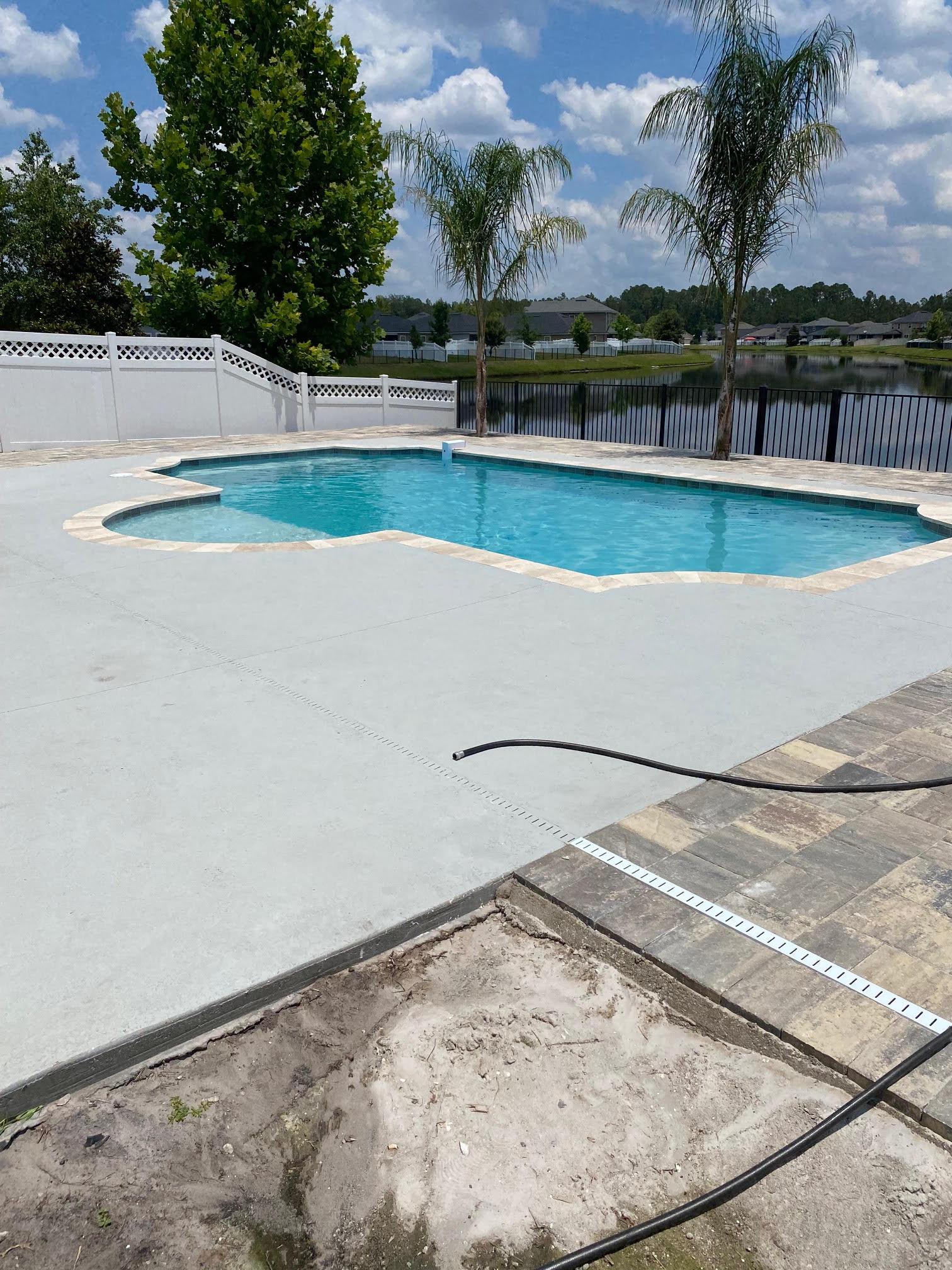 concrete pool smaller