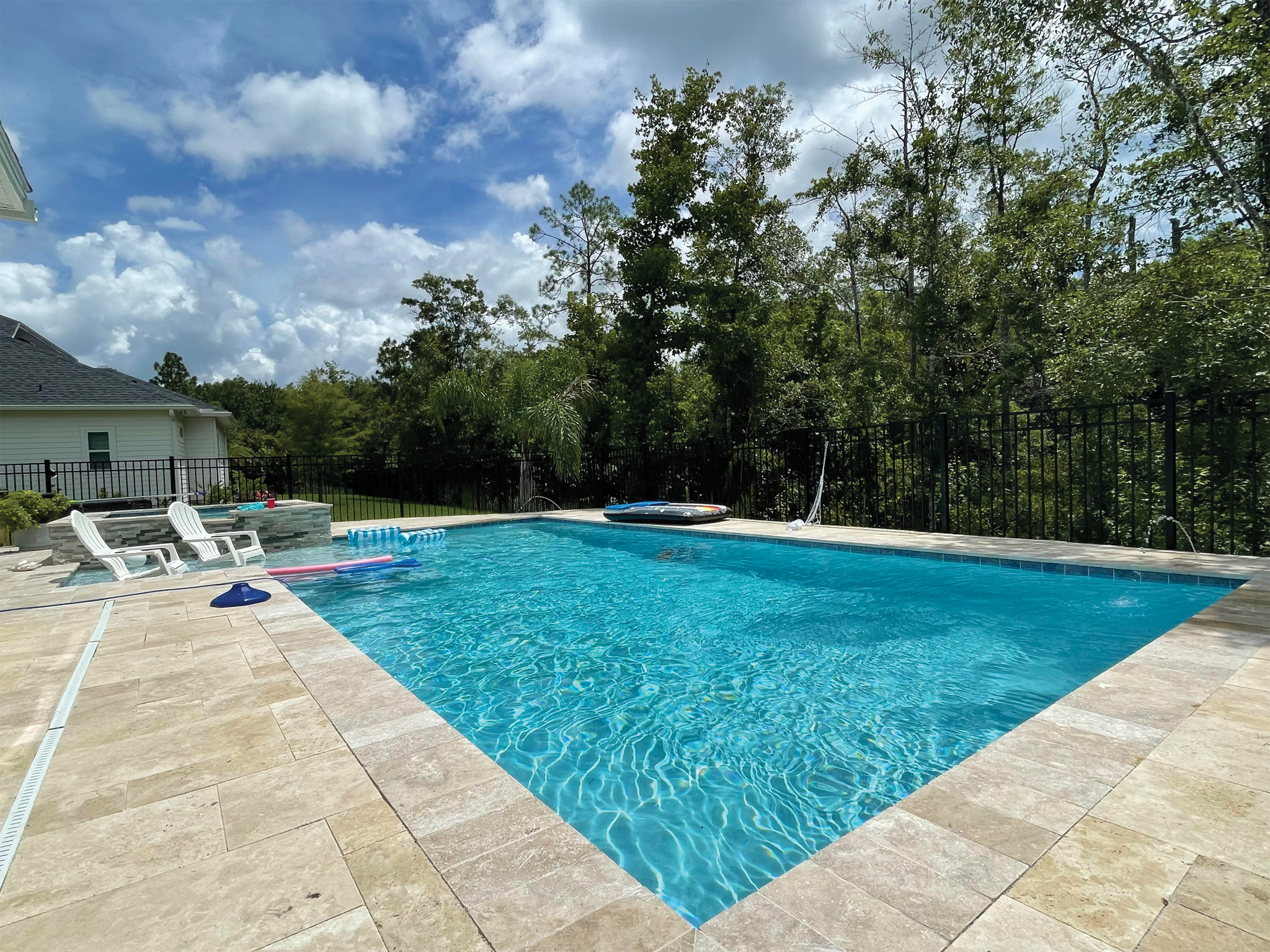 in ground residential pool